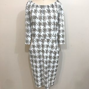 NEW DIRECTIONS Dress 18 Large Houndstooth Pockets